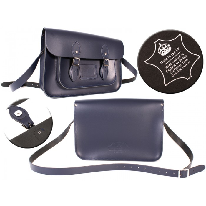 14 NAVY MAGNET ENGLISH SATCHEL