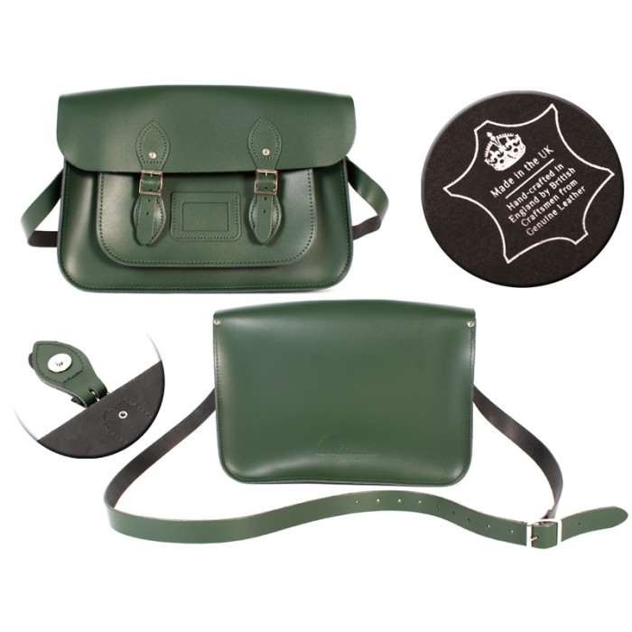 14 RACING GREEN MAGNET ENGLISH SATCHEL