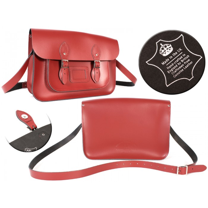 14 RED MAGNET ENGLISH SATCHEL