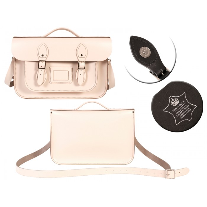14 CREAM MAGNET ENGLISH BRIEFCASE SATCHEL