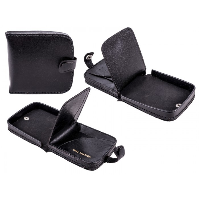 1591 Black square tray purse wallet note section