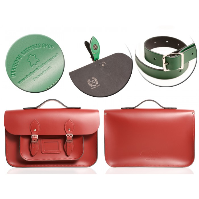 15 RED MAGNETIC SATCHEL W/HANDLE