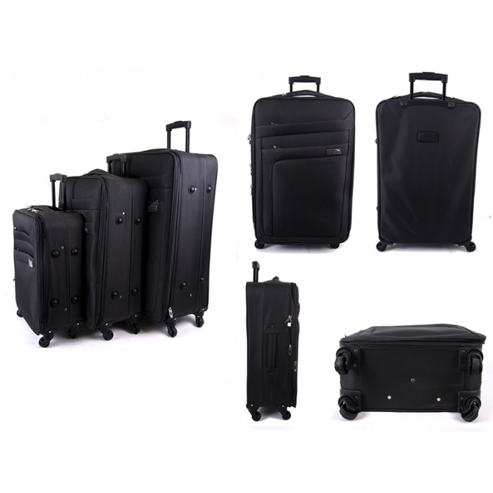 JB2018 GRAY SET OF 3 4 WHEEL TRAVEL LUGGAGE