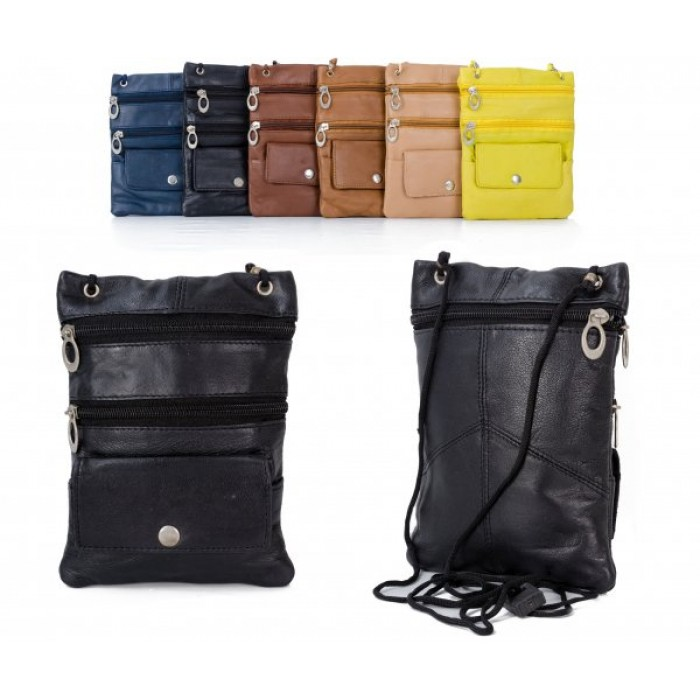 905 BLACK LEATHER/PU CROSSBAG