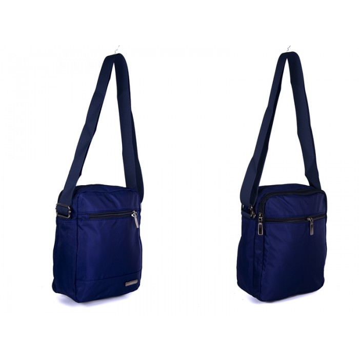 2450 NAVY Lorenz shoulder bag with 4 zips