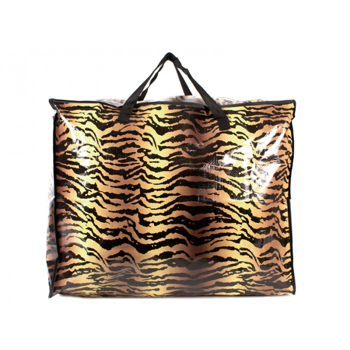 2474 BROWN ZEBRA PRINT MEDIUM LAUNDRY BAG