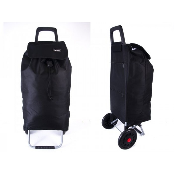 HBY-0125 BLACK HIGHBURY TWO WHEEL SHOPPER