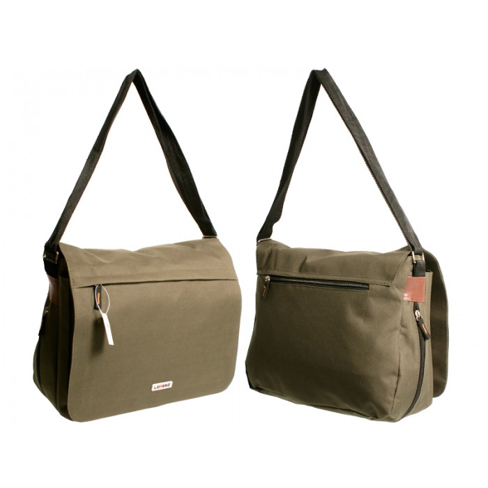 2577 OLIVE GREEN LRG XBODY POLYESTER MESSENGER