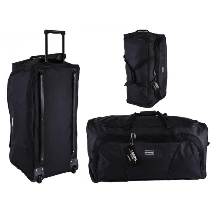 "2622 Black 32"" Trolley Bag with Front Pocket & Retracta"