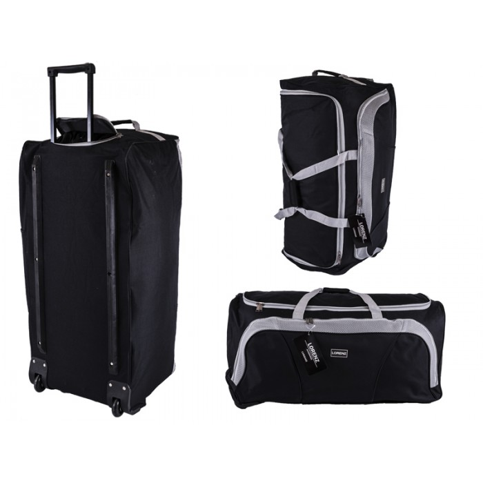 "2622 Black/Grey 32"" Trolley Bag with Front Pocket & Retracta"