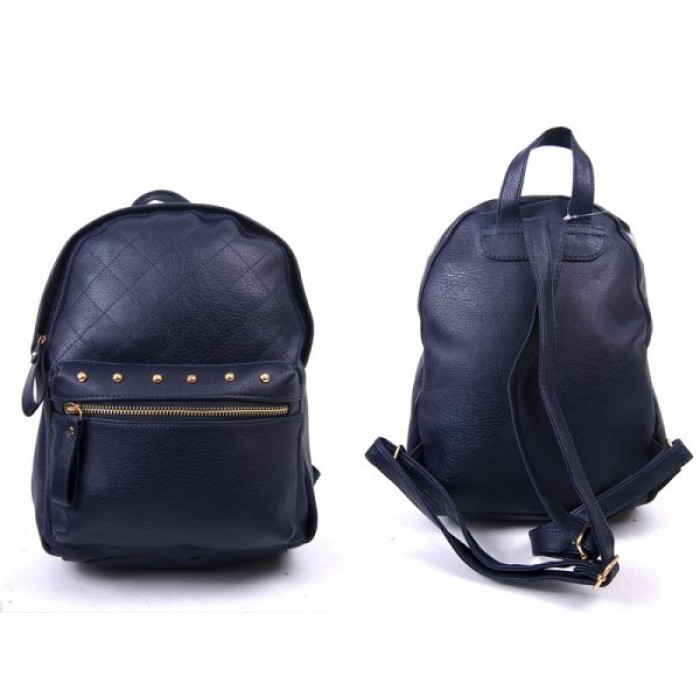 JBFB204 NAVY PU BACKPACK WITH STUDS