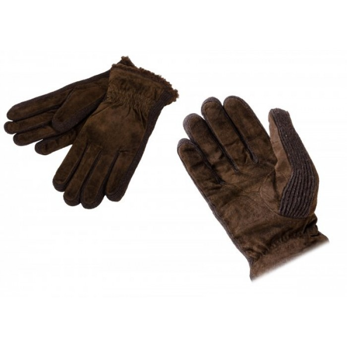 LG-101 MEDIUM SUEDE BROWN GLOVES W/LINING