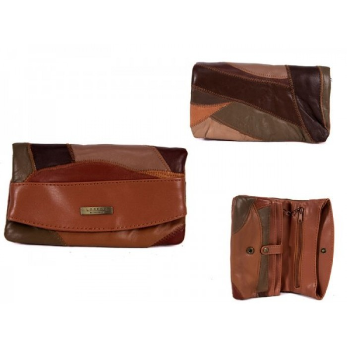 4614 BROWN 100% LEATHER PURSE