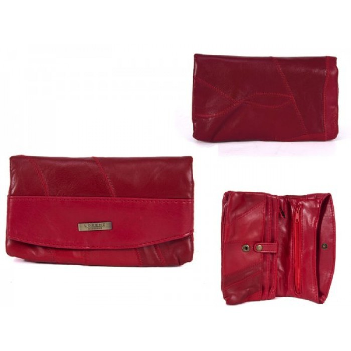 4614 RED 100% LEATHER PURSE