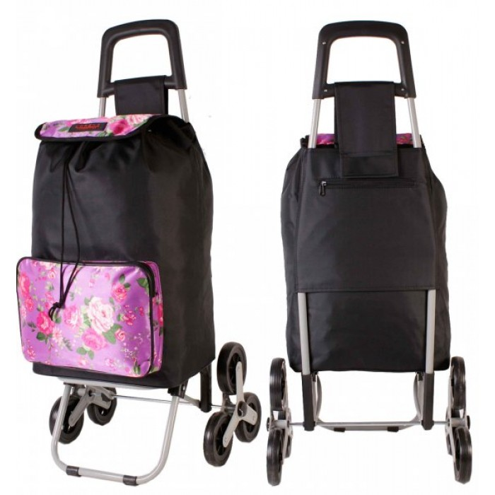 6960 SUMMER PINK 6 Wheel Stair Climber Shopping Trolley
