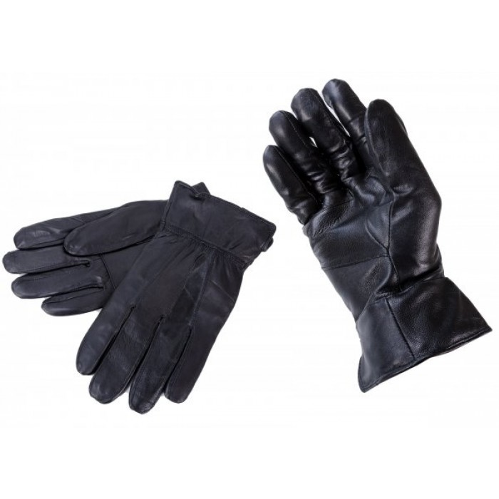 8922 MEDIUM BLACK LEATHER GLOVES