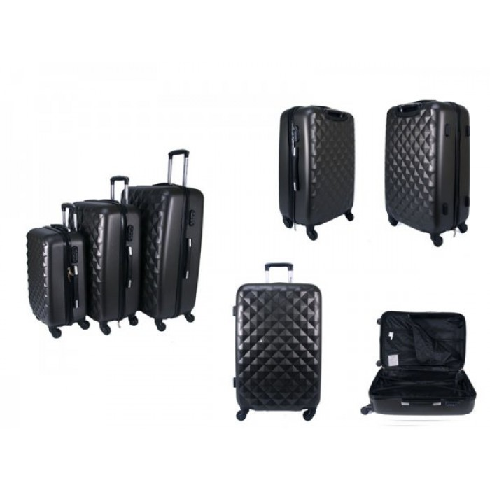 JB2020 GRAY SET OF 3 HARD CASE 4 360 WHEEL FLIGHT CASE £46.00