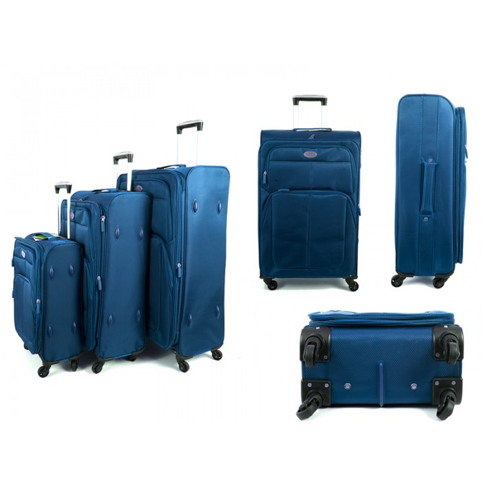 4421 BLUE SET OF 3 SUPERLIGHT LUGGAGE