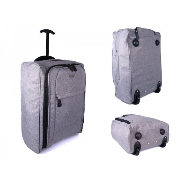JBTB05 GREY BORDERLINE CABIN BAG