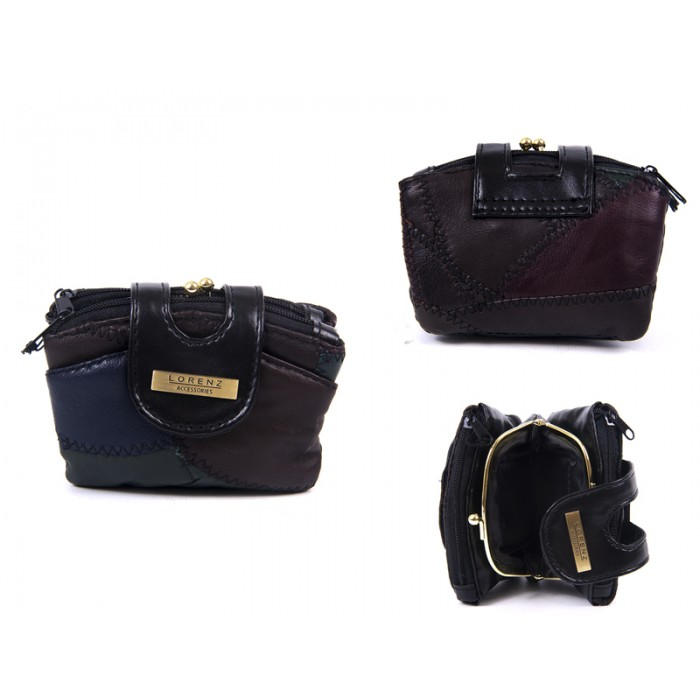 4613 MULTI DOUBLE ZIP PURSE WITH CENTRE FRAME TABOVER