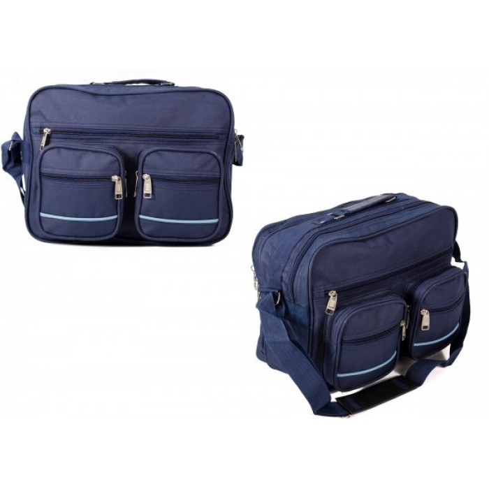 TB-102 NAVY CROSSBAG W/ 6 ZIPS £4.25