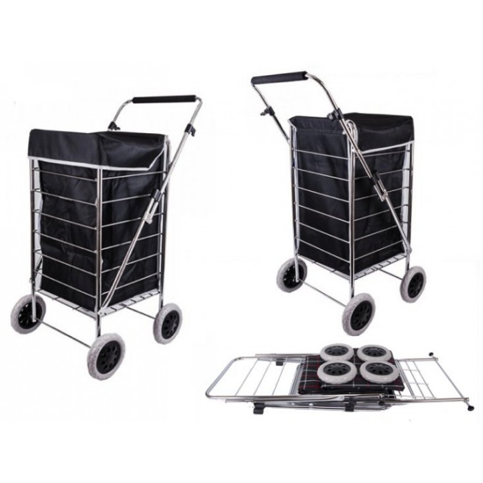 ST-FOUR-01 BLACK SHOPPING TROLLEY