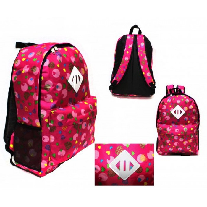 2613 PINK HEARTS BACKPACK