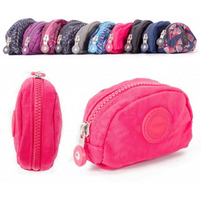 2505 PINK SMALL ZIP ROUND COIN PURSE W/ INNER CLIP