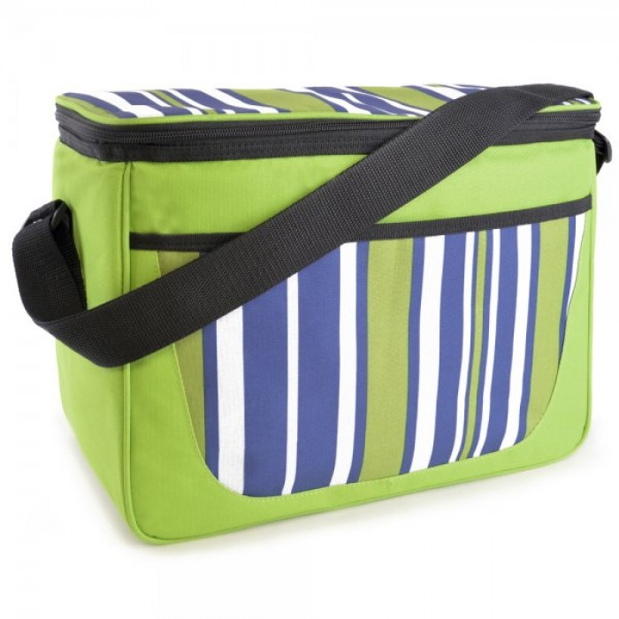 BB0914 STRIPE PRINT FAMILY COOL BAG GREEN