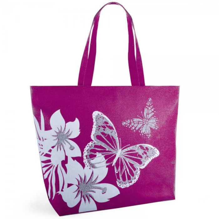 BB1029 BUTTERFLY 600D PRINT BAG PINK