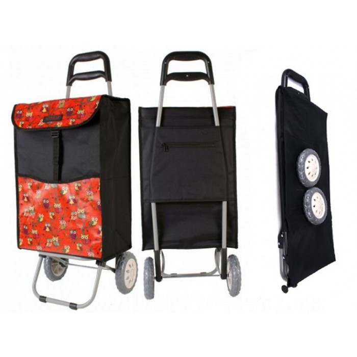 6961 RED OWL 2 WHEEL SHOPPING TROLLEY