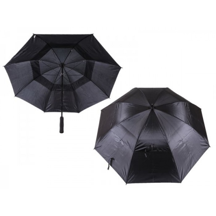 2817 CONTRAST GOLF UMBRELLA WITH WIND FLAPS BLACK