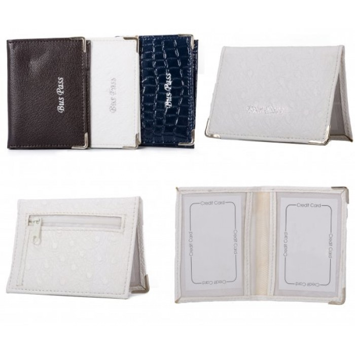 Model: BCZP WHITE PU BUSS PASS WALLET