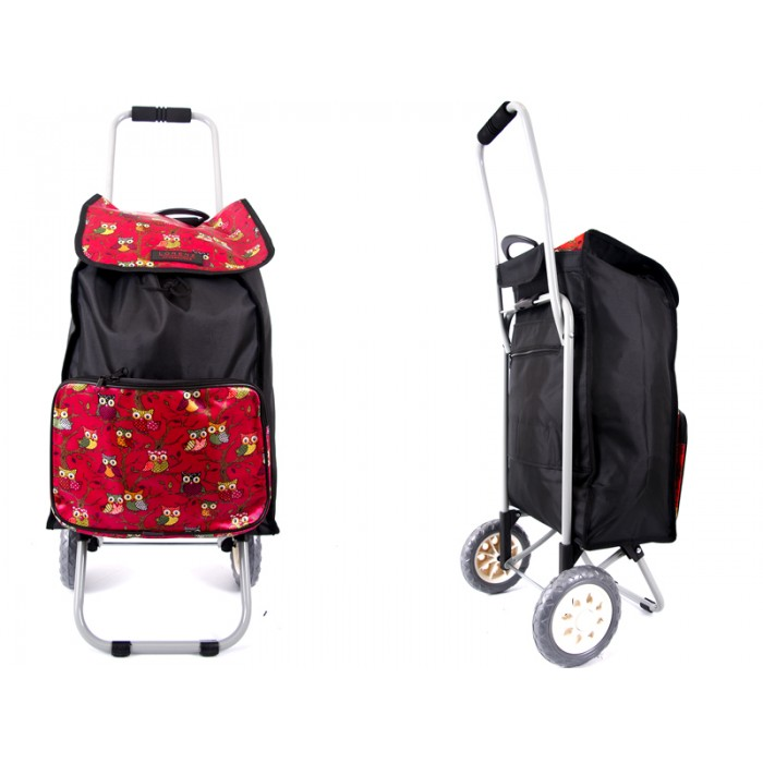 6956 red Owl Shopping Trolley with Folding back Frame