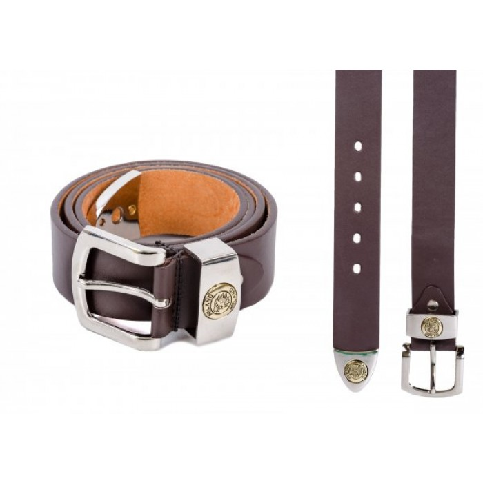 "2752 1.5"" MILANO BROWN BELT WITH TIP MEDIU,"