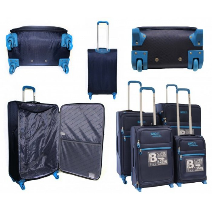 JB2015 NAVY AND BLUE 4 SUITCASES