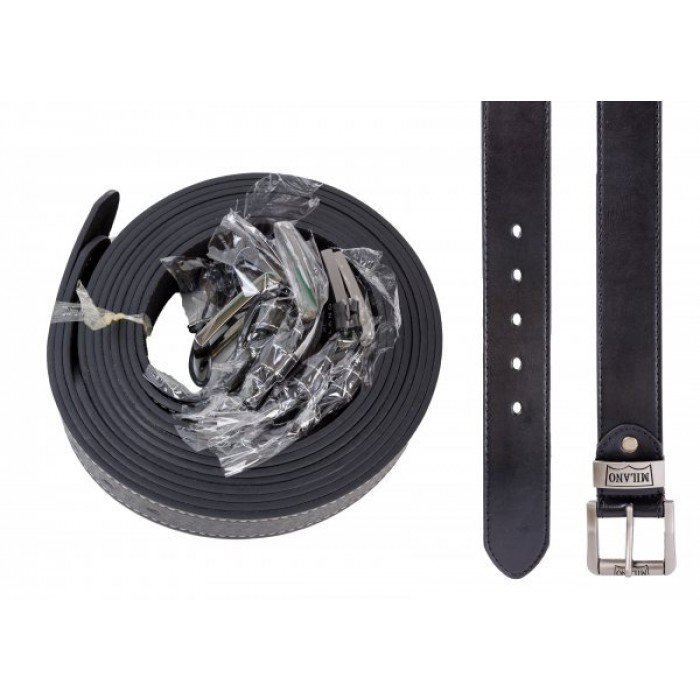 2753 ONE DOZEN BLACK BELT WITH LEATHER GRAIN