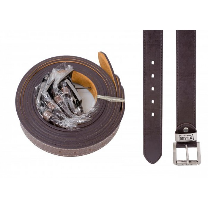 2753 ONE DOZEN BROWN BELT WITH LEATHER GRAIN