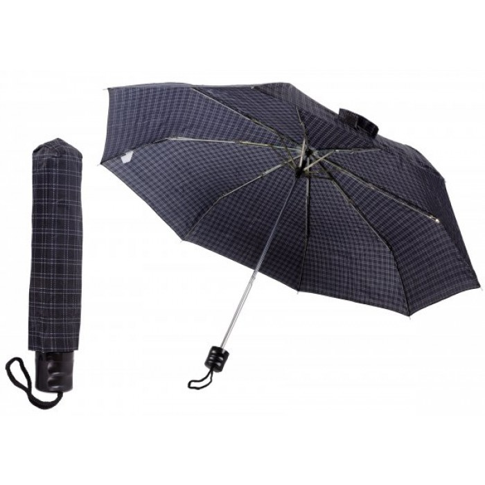 2801 BLACK TARTAN COMPACT UMBRELLA