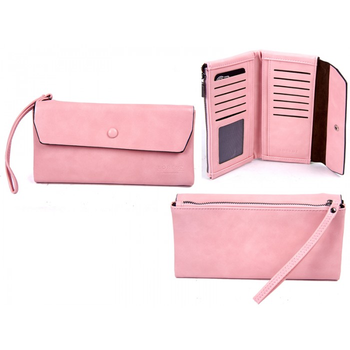 7148 PINK LARGE FLAPOVER STYLE PURSE RFID