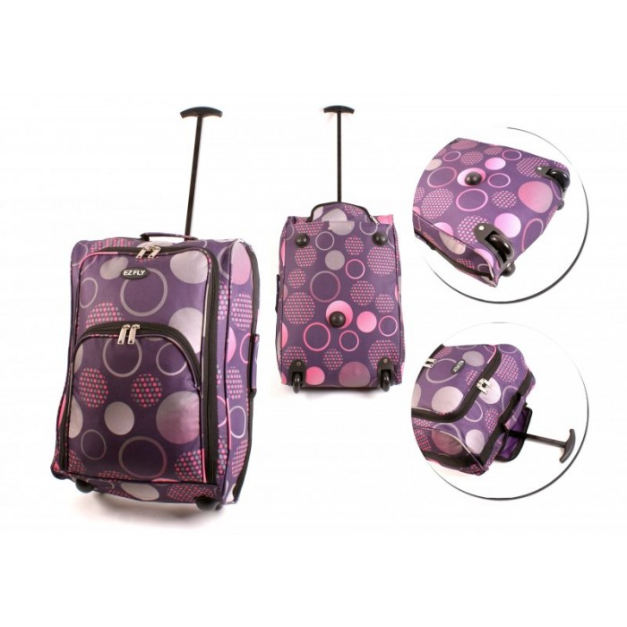 CTB-3P-PURPLE CIRLCE CABIN TRAVEL BAG