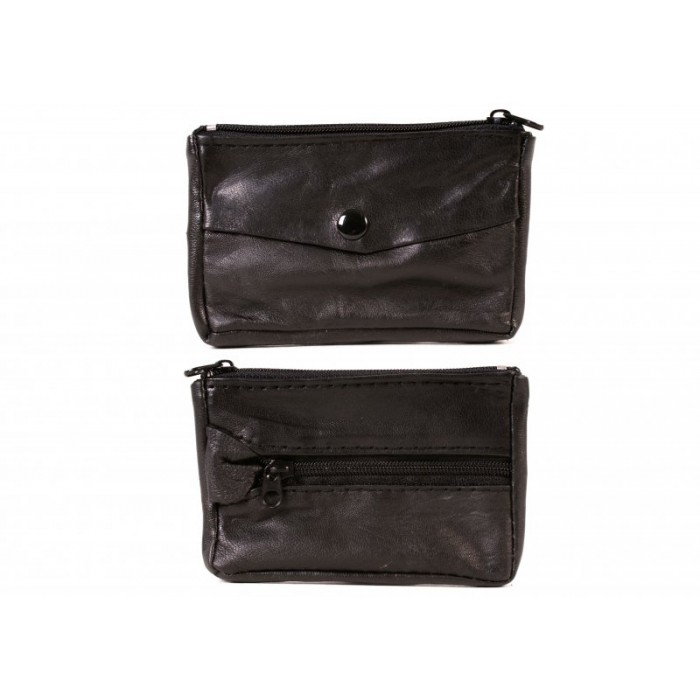 1883 BLACK SMALL SHEEP NAPPA KEYCASE WITH SPLIT RING