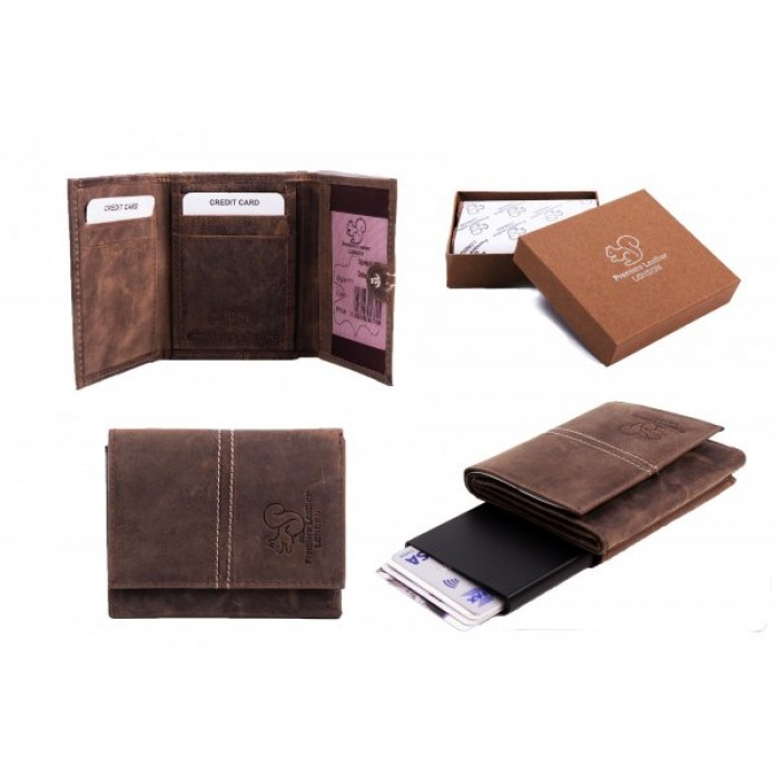 RL 9007 C-SECURE CASE RFID BROWN WALLET