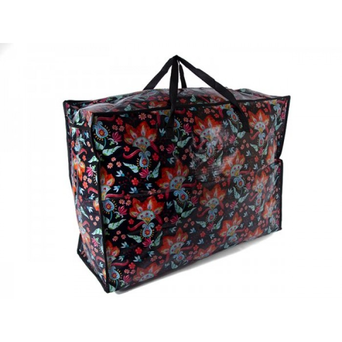 JBLND01 BLACK FLOWER LARGE LAUNDRY BAG