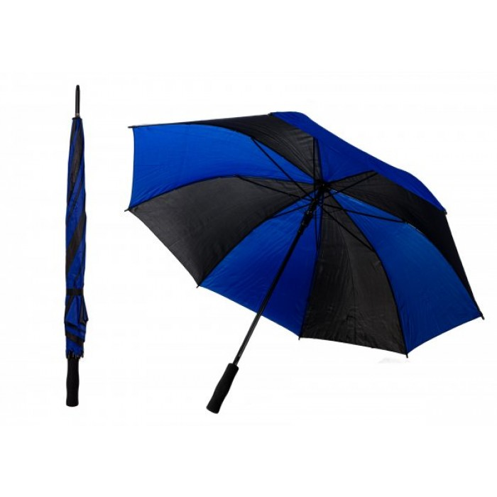 JBUB13 BLACK & BLUE TRIGGERED GOLF STRIPED UMBRELLA