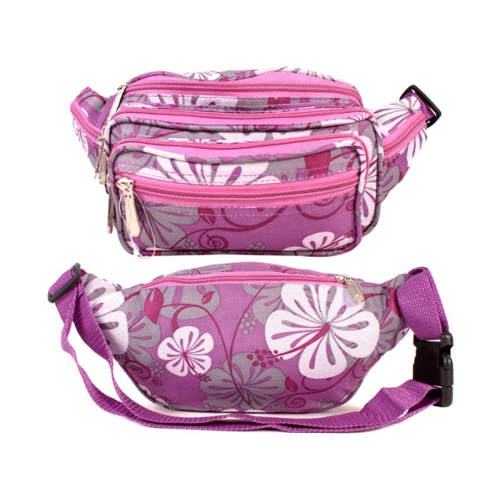 8056 FLORAL BUMBAG PURPLE
