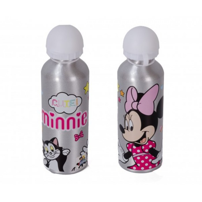 4020-8173M ALUMINIUM WATER BOTTLE 500ML MINNIE MOUSE