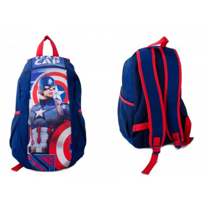MARVEL TEAM CAP BACKPACK W/ NET POUCHES
