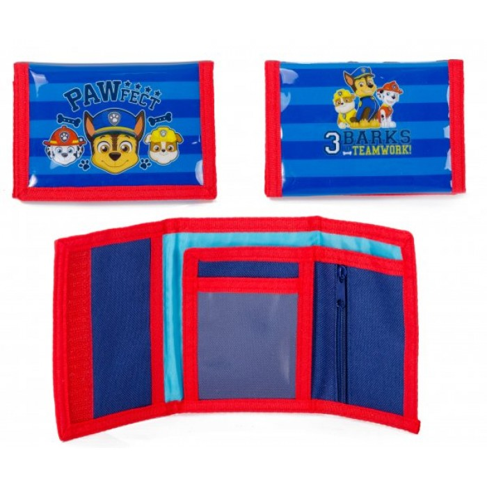 00788 PAW PATROL 77 WALLET BLUE/RED