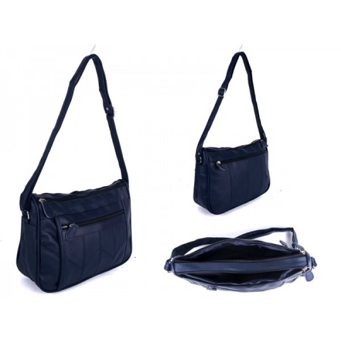 JBHB2558 BLUE XBDY HANDBAG WITH 4 ZIPS